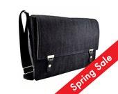 "12"" MacBook messenger bag - dark denim"
