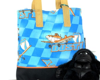 Dusty Crophopper Child Tote / Disney's Planes / Kindergarten Tote / Book Bag / Overnight / Travel /Toy Storage / Embroidered