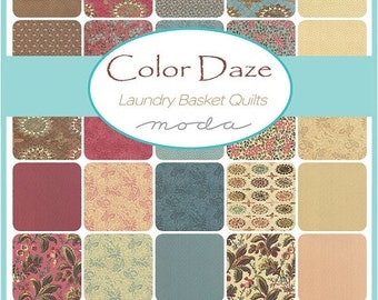 SALE Color Daze Jelly Roll Fabric - Moda - Laundry Basket Quilts
