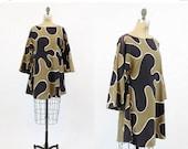 SALE 60s Dress Mod Tent Mini Small Medium / 1960s Vintage Trapeze Dress / Puzzle Piece Dress