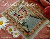 Dottie Rag Doll Raggedy Antiqued Folk Prim Girl Punch Needle Embroidery DIGITAL Jpeg and PDF PATTERN Michelle Palmer Painting with Threads