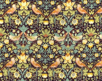 Liberty Fabric Strawberry Thief F Tana Lawn Half Yard Floral Birds William Morris