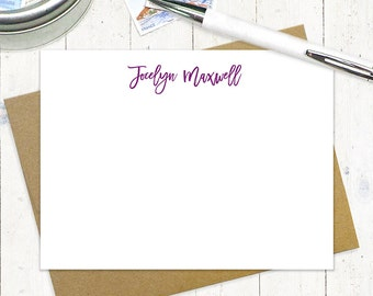 personalized note card set - PERFECTLY CAREFREE - set of 12 flat note cards - stationery - fun note cards - postcard
