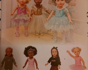 Simplicity 1243 ballerina and dance costumesbfor 18 inch dolls