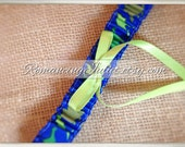Dainty Dinos Bridal Garter...Custom Bow Colors Available..shown in apple green