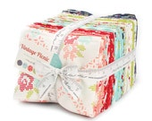 SPRING SALE - Factory Cut - Vintage Picnic - Fat Quarter Bundle (40) - by Bonnie and Camille for Moda Fabrics