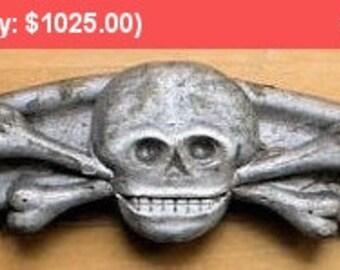 On SALE - Antique Odd Fellows Skull Crossbones Funerary Folk Art