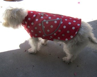 Pink Dog Outfit with Lining for Medium Size Dog