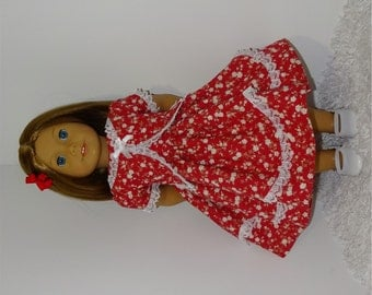 Red Two-Tiered Jacket Dress, Fits 18 Inch American Girl Dolls