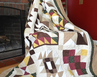 Adventure Sampler- Handmade quilt.