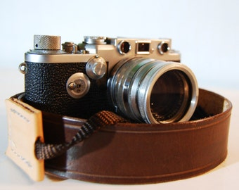Camera Strap Standard Grooved Timber Brown Leather Custom Monogram Engraving for Photographers Ideal for DSLR Canon Nikon and all Cameras