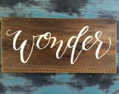 Wonder Hand Painted Sign
