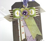 Whimsical Paper Bow XL Luxe Gift Tag~Hang Tag~Pretty Packaging~Deluxe gift tag~birthday card~any occasion gift tag