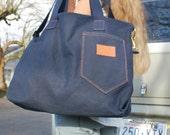 Vintage Tote Bag Vintage Denim Shoulder Bag
