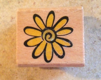 NEW Daisy Wooden Block Rubber Stamp by Stamp Craft