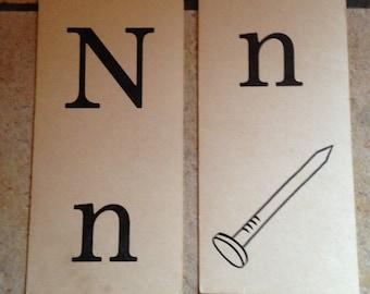 Nn nail Phonics Teaching Cards