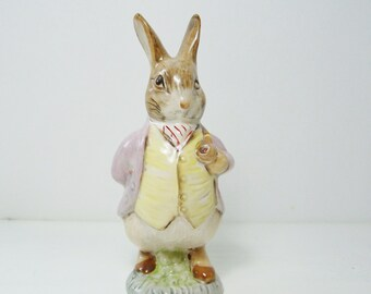 Benjamin Bunny Figurine, Beatrix Potter Collectible, F. Warne & Co. Beswick England, Nursery Decor, Shower Gift, Porcelain Figurine