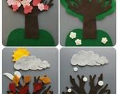 The Four Seasons & Weather Felt Set