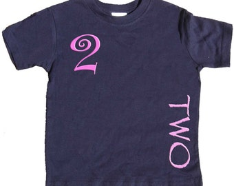 2nd Birthday T shirt girls Second Birthday Shirt by Mumsy Goose  Two Shirts Any Age Birthday Shirt
