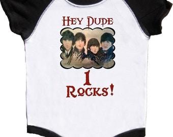First Birthday Bodysuit Boys Rocker Birthday Shirt Classic Rock Tee Mumsy Goose