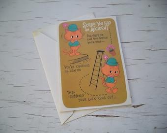 Vintage American Greeting Get Well Card