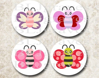 Butterfly  Stickers Baby Shower Birthday Party Favor Treat Bag Sticker SB015