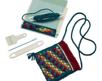 "SCHACHT MINI LOOM  8"" Square Mini Portable Loom Kit/hand weaving"