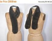 SALE Brown Mink Fur Collar Scarf / brown / clips