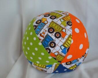 "Dump Truck 4"" Cloth Jingle Ball Baby Toy"