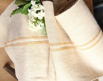 R251 antique STAIRRUNNER CARAMELL bathmat upholstery fabric 14.86long lumbar pillow french lin
