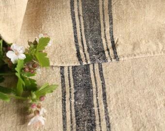 B188 Grain Sack antique FRENCH INDIGO pillow french lin benchcushion 45.67long wedding decoration