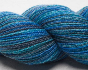 Luxury Hand dyed soft Queensland Merino Lambswool 2ply Lace weight Yarn 100g Indie painted wool