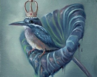 The King Colibri Print on Paper / Ilona Cutts