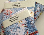 Blank Art Journals, Set of 3,Marbled Paper Cover, 3 sizes, Bulk Buy, Artist Pack, Family Pack, Writing Journals, Unlined Diary, Unisex Gifts