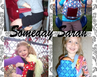 PDF Pattern - Toy Mei Tai Doll Teddy Carrier for Child's Toy - How to Sew