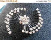 1 DAY SALE Black Brooch with sparkling stones, beautiful
