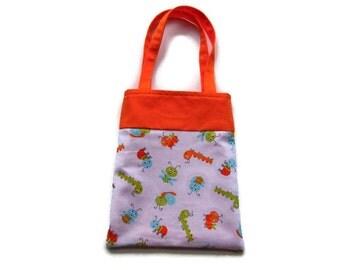 Fabric Caterpillar Gift Bag/Goodie Bag - Caterpillars and Bugs