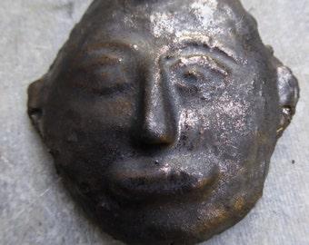 Artisan made ceramic pendant - Naga Warrior - Large
