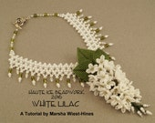 White Lilac Necklace Advanced Beading Tutorial