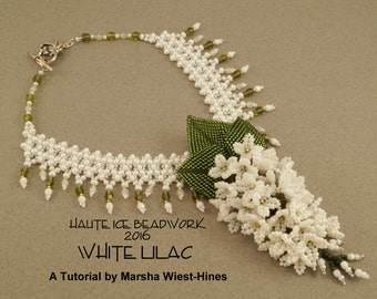 eTUTORIAL for White Lilac Necklace Advanced Beading Tutorial