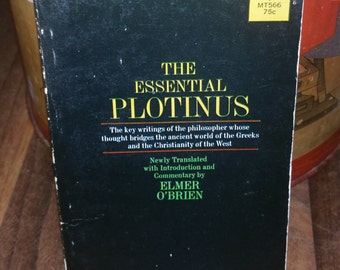 The Essential Plotinus Vintage Paperback Book
