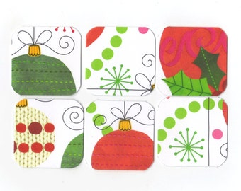 SALE Christmas Mini Note Cards (set of 6) CMN11 / Ready To Ship