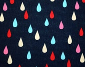 1/2 Yard of Sevenberry Japanese Cotton Canvas Navy with Raindrops Fabric
