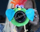 NEW! Feather bird lens buddy. Camera critter. Photographer helper