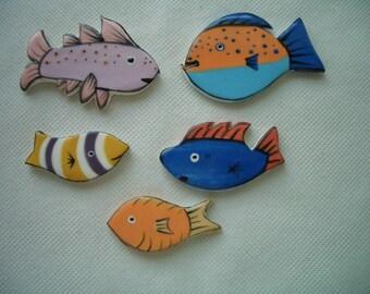 5So - WONDERFUL Little FISH - Ceramic Mosaic Tiles