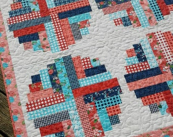 Baby quilt featuring the bright and cheerful Gooseberry fabrics line.