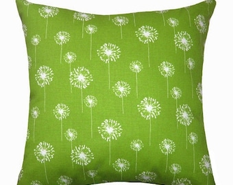 Premier Prints Small Dandelion Charteuse Green Decorative Throw Pillow Free Shipping