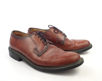 Dexter Oxford Shoes Vintage 1970s Brown Leather Lace up Men's size 9 1/2 D