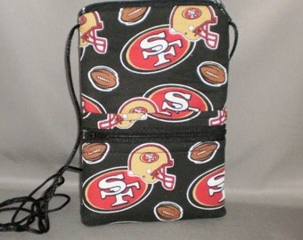 49ers - Smart Phone Purse - Passport Purse - Sling Bag - Hipster - Wallet on a String -  Football