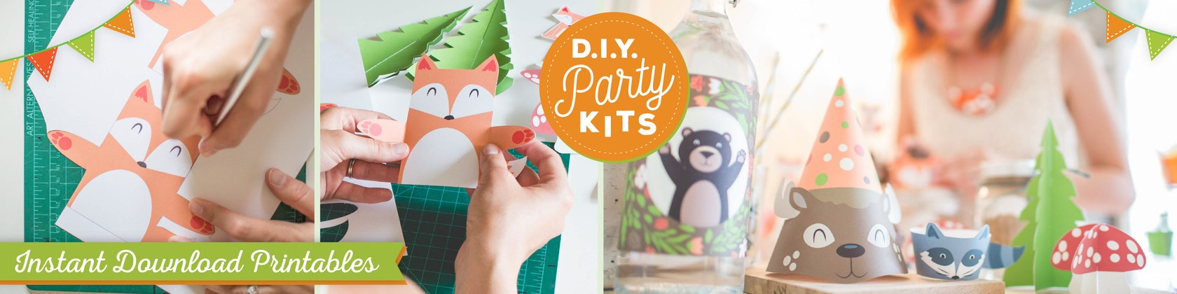 Printable party decor mason jar labels and art by kudzumonster